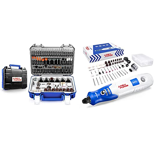 APEXFORGE Rotary Tool Accessories Kit with 3.7V 1500mAh Cordless Rotary Tool