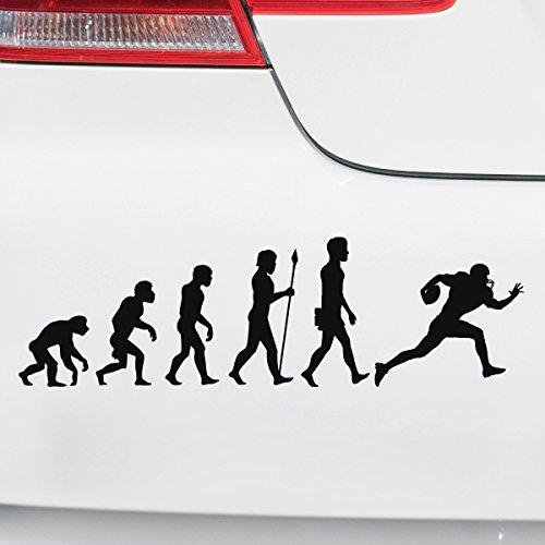 Motoking Autoaufkleber - Lustige Sprüche & Motive für Ihr Auto - Evolution Football - 25 x 7,4 cm - Hellgrün Glänzend