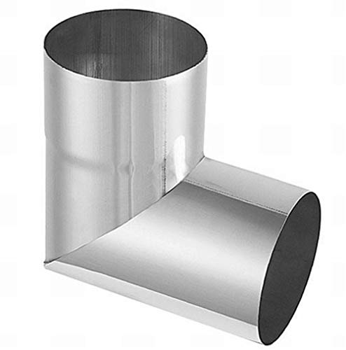 Rohrwinkel 87° Titanzink in den Größen 60, 76, 80, 87 und 100 mm (100 mm)