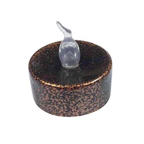 Amuzocity Vela de Té LED Sin Llama Negra para Decoración de Fiesta de Cumpleaños