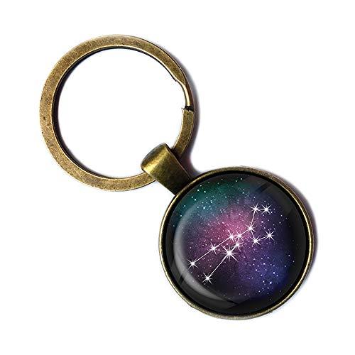 Zodiac Symbol Astrology Taurus Star Constellation Tierkreis Astrologie Stier Keychain Bronze Schlüsselanhänger