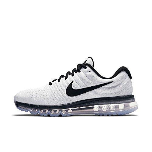 Nike Air MAX 2017, Zapatillas de Gimnasia Hombre, Blanco (Weiß/Schwarz Weiß/Schwarz), 39 EU