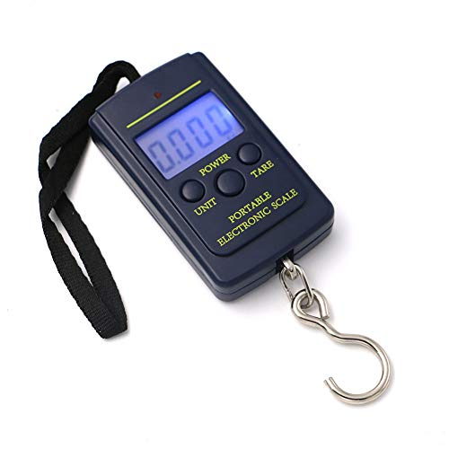 40Kgx10G Mini Balanza Digital Básculas De Bolsillo para Equipaje De Pesca Ponderación De Viaje Steelyard Hanging Electronic Hook Scale Use