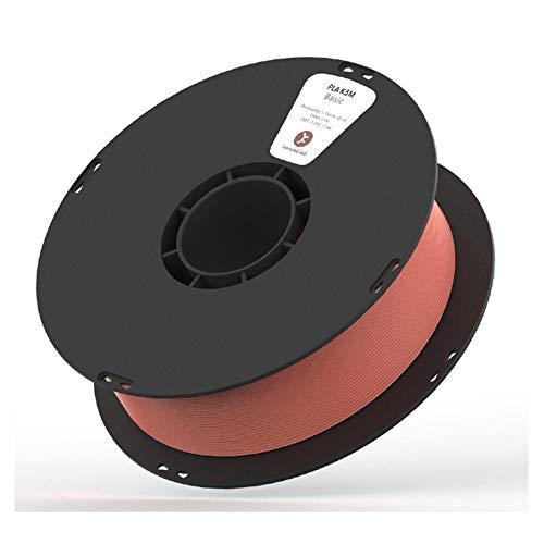 Filamento PLA K5M 1.75 mm, filamento della stampante 3D, texture glassata opaca, bobina da 1 kg, accuratezza dimensionale +/- 0,03mm-argilla rossa