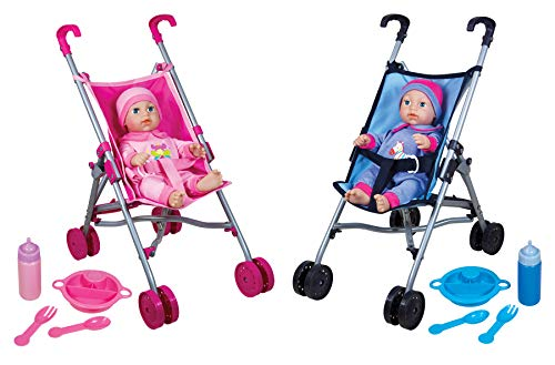 Lissi Umbrella Stroller Twin Set with 2 Baby Dolls