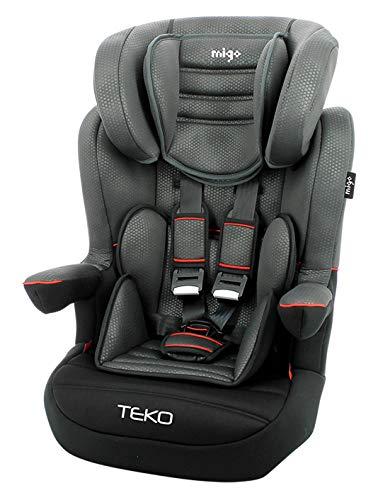 Migo Sitzerhöhung für Kinder Teko Grp 1/2/3 (9 – 36 kg) – Casual Black