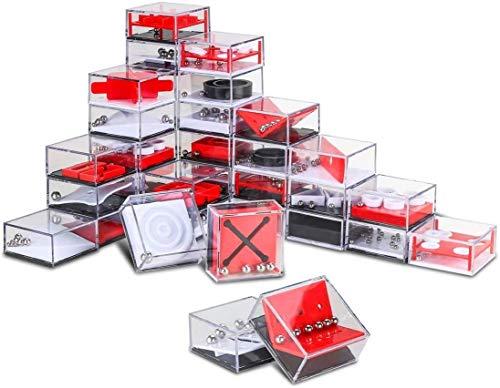 Nesloonp Set de 24 Puzzles Mini Juegos Rompecabezas Set Juegos con Niveles Diferentes Perfectos para Regalos de Fiesta Juegos de Habilidad para Adultos o Niños