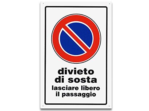 CARTELLO 30X20 DIVIETO DI SOSTA