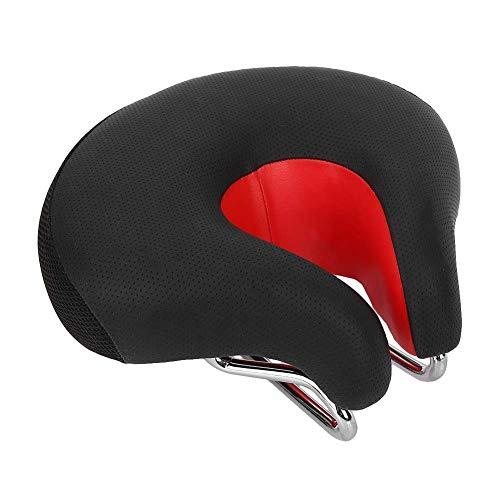 Belika Seggiolino Bici Rosso Nuovo PVC + PP + Acciaio Resistente agli Urti Mountain Bike Senza Cuscino per Il Naso(Rosso)
