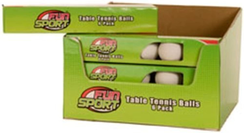 Fun Sport Table Tennis Balls 6 Pack by Sports Fun