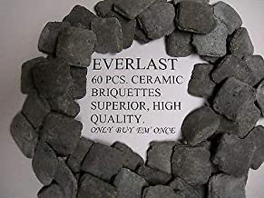 Ceramic Briquettes Rocks Xx Heavy Duty Commercial BBQ Fits Magikitch'N Broiler.Note: The Picture Shows 60 CT. BUT The Actual Piece Count is 54 BRIQUETTES AS of 5-25-18