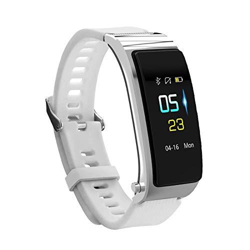 ZHENAO Tracker Fitness, Pantalla de Color de Alta Definición de 0.96 Pulgadas, Llamada Bluetooth, Sincronización de Inforión de Llamadas, Música Del Sueño, Pulsera Del Podómetro de