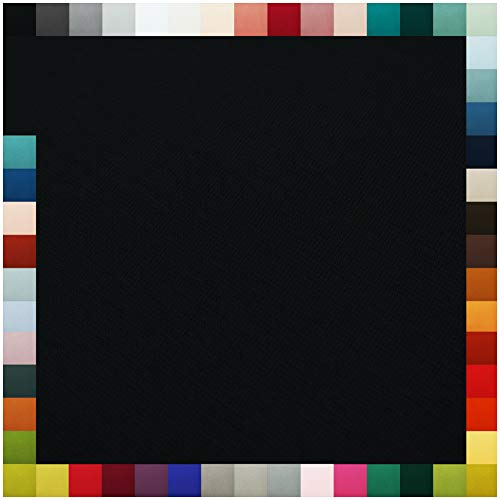 VmG-Store Bündchenstoff als Meterware Schlauchware 70cm breit 95% Baumwolle, 5% Elasthan über 50 Farben Auswahl Jersey (001 |Schwarz, Länge: 0,5m)