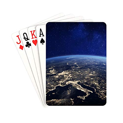 QIAOLII Poker Card Beautiful Earth Humans Live Colorful Playing Cards Unique for Kids & Adults Card Decks Games Standard Size