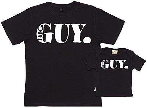 SR - Big Guy Little Guy - Conjunto de Regalo para Padres y bebés - En Caja de Regalo - Padre Camiseta & bebé Camiseta