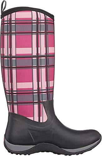 Muck Boots Damen Arctic Adventure Plaid Gummistiefel, Schwarz (Black/pink), 37 EU