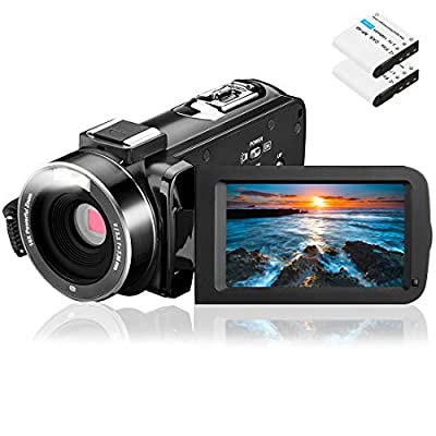 Video Camera Camcorder, Aasonida Digital YouTube Vlogging Camera Full HD 1080P 24MP 3.0 Inch 270 Degree Rotation Screen 16X Digital Zoom Webcam Recorder with 2 Batteries from Aasonida