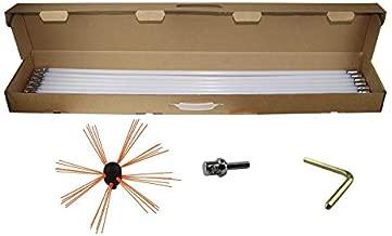 VEVOR Chimney Sweeping Brush Rotary Chimney Brush 315Inch Chimney Brush Rod Kit 8 Rods with Nylon Flexible Rods (8 Rods)