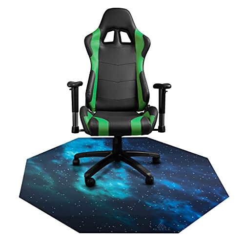 """AREIA Chair mat for Hardfloor, Floor Protecting and Noise Canceling Mat for Gaming Computer Chairs with Rubber for Anti Slip, Chair Mat with Design, Office Chair mat for Wood or Tile Floor, 47"""" x 47"""""""