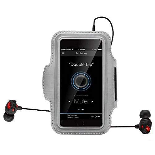 Brassard multifonctionnel pour sports de plein air avec porte-clés, pochette pour cartes pour smartphones - - 2, Large