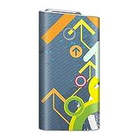 glo グロー グロウ 専用スキンシール 裏表2枚セット カバー ケース 保護 フィルム ステッカー デコ アクセサリー 電子たばこ タバコ 煙草 喫煙具 デザイン おしゃれ glow クール ユニーク 矢印 ペイント イラスト 002371