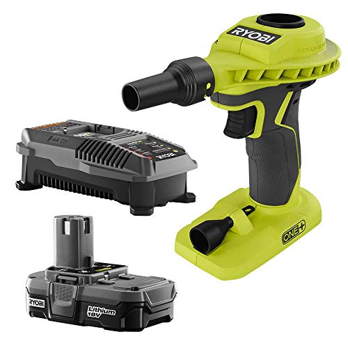 RYOBI 18-Volt ONE+ Lithium-Ion Cordless High Volume Power Inflator P738 Kit with 1.3 Ah Battery and 18-Volt Charger