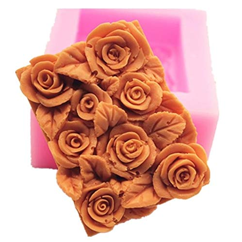 Silicone molds Rose Bush, Flowers Craft Art Silicone Soap Mold, Craft Molds DIY Handmade Soap Molds - The Best Handmade Gifts - Soap Making Supplies by YSCENL