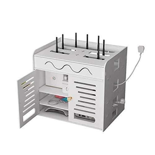 HEZHANG Caja de Alenamiento Enrutador Multifunción Wifi Cat Cat Control Remoto Alenamiento de Alenamiento Enchufe de Alambre Panel de Parche de Alambre Establecimiento de Caja de Recipiente Caja de A