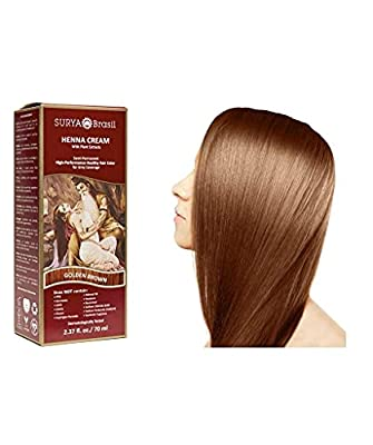 Surya Brasil Products Henna Cream, Golden Brown, 2.37