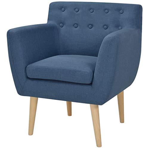 vidaXL - Poltrona relax in tessuto, 67 x 59 x 77 cm, colore: blu