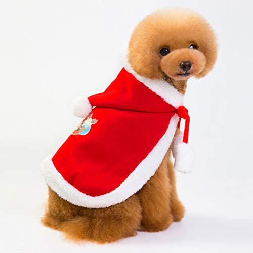 PETVE nya husdjurs julkläder tjock lag slåss hund mode julkappa, S