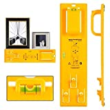 Picture Hanging Kit, Picture Frame Hanger Tool, Heavy Duty Photo Hanger Accessories,Frame Ruler for Marking...