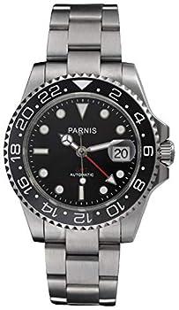 Fanmis Ceramic Bezel GMT-Master Ii Black Dial Automatic Mechanical Ladies Men s Silver Steel Watch Pa-253