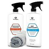 TriNova Granite Care Bundle - pH Neutral Granite Cleaner for Daily...