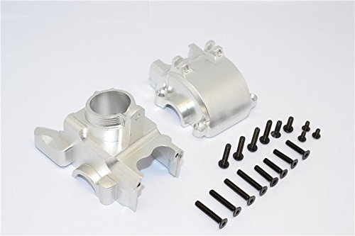 GPM Axial Yeti XL Monster Buggy Upgrade Pièces Aluminium Front Axle Housing Mount - 1 Set Silver