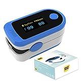 Smart Saver Pulse oximeter fingertip, Portable Digital Blood Oxygen Saturation Royal Blue Monitor