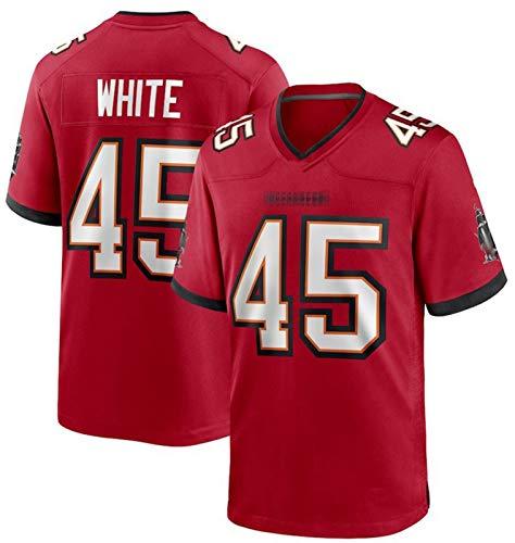 Blanco # 45 Camiseta De Fútbol Americano Personalizado Camisetas Tǎmpá Bāy, Rugby Jersey Buccǎneérs Vapor Limited Jersey Secalado Rápido Sportswear para Hombres Red-M(176~180cm)