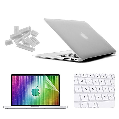 datao Replacement of Accessories 4 in 1 Frosted Hard Shell Plastic Protective Case with Screen Protector & Keyboard Guard & Anti-dust Plugs for MacBook Air 11.6 inch Accessory (Color : White)