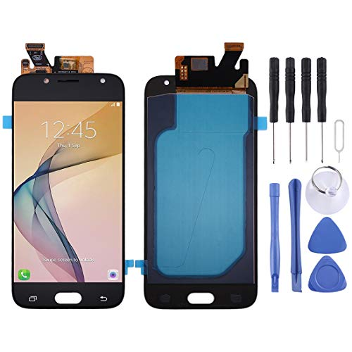 WANAOSHOP Oled Material LCD Screen and Digitizer Full Assembly for Galaxy J5 (2017), J530F/DS, J530Y/DS(Black) ZJJJDK (Color : Blue)