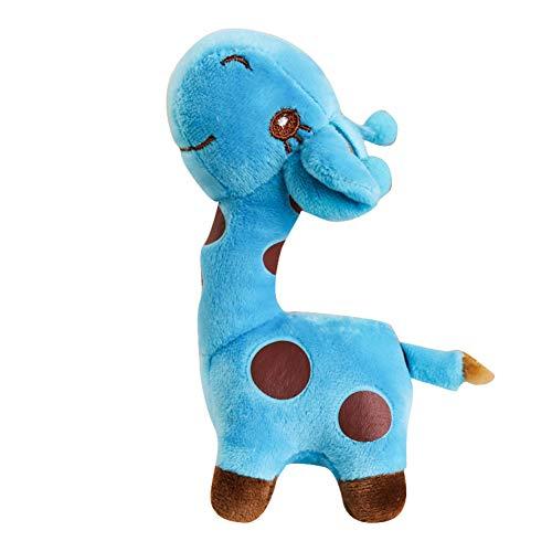 NAttnJf - Simulación de Jirafa de Animales de muñeca Suave para niños, Juguete de Regalo de cumpleaños para niños, Azul