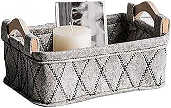 HXSD Square Canvas Clothes Storage Box Desk Stationery Storage Basket Cosmetic Debris Finishing Box Scarf Socks Storage Ba...
