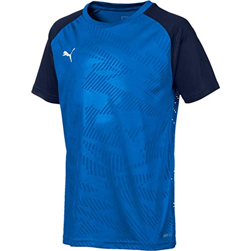 PUMA Kinder CUP Training Jersey Core Jr Trikot, Electric Blue Lemonade-Peacoat, 140