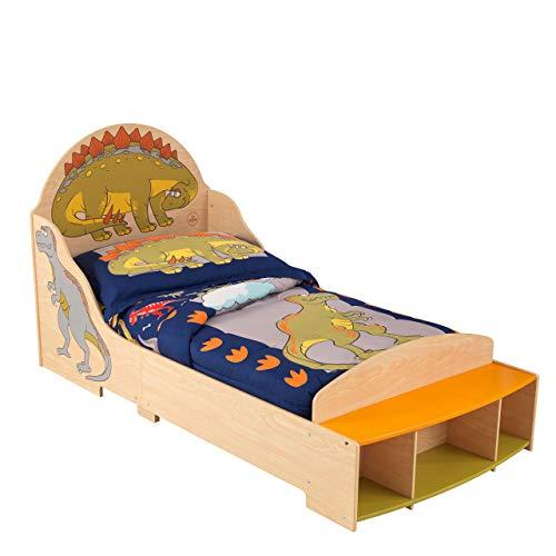 KidKraft 86938 Cama infantil con diseño dinosaurio con marco de madera, muebles para dormitorio de niños