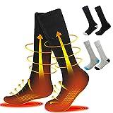 WOTEG - Calcetines térmicos con batería recargable, calcetines térmicos para tiempo frío, calcetines térmicos de invierno para mujeres y hombres