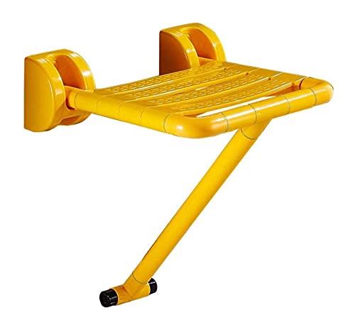 Taburete de ducha, Asiento de ducha plegable, montaje en pared para discapacitados asientos para adultos para adultos Cambiar tableros de asiento Asiento de ducha plegable antideslizante con pies de s