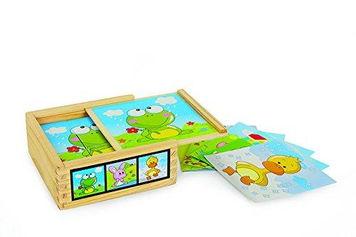 Legler - Puzzle de Cubos con diseño Amigos Animales, de Mad