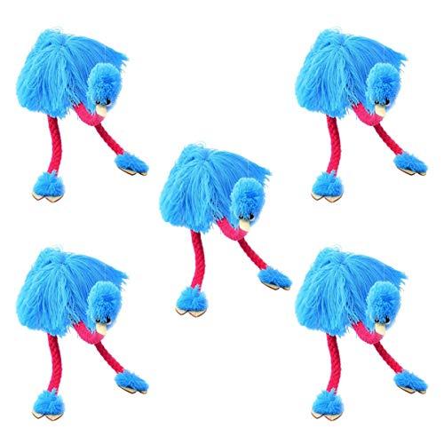 TOYANDONA 5 Stks String Puppets Pull String Speelgoed Flamingo Speelgoed Gevulde Struisvogel Knuffels Marionet Speelgoed Voor Kinderen Kinderen Hemelsblauw