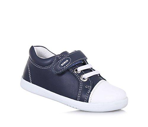 BOBUX - Blauer I-Walk Trouble Schuh aus Leder, made in New Zealand, mit Klettverschluss, elastische Schnürsenkel, Jungen22