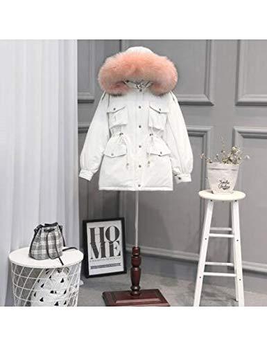 LJPHMM Frauen Daunenjacke Dicker Schnee Tragen Wintermantel Weiße Entendaunenjacke Weibliche Jacken Langer Daunenparka,Daunenjacke,Beiger Mantel Pink 7,S