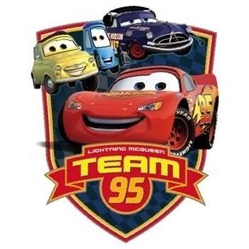 Amazon Com Disney 4 Inch Team 95 Lightning Mcqueen Wall Decal